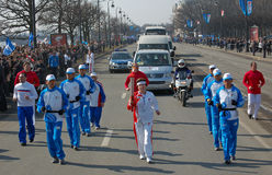 Olympic Torch Relay Tereshkova Royalty Free Stock Photo