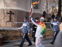The Olympic Torch Relay. Royalty Free Stock Photography