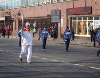 The Olympic Torch Relay. Stock Photography