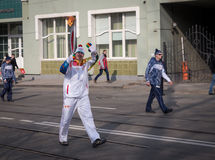 The Olympic Torch Relay. Royalty Free Stock Photo