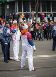 The Olympic Torch Relay. Stock Images