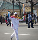 The Olympic Torch Relay. Royalty Free Stock Photos