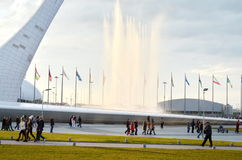 Olympic Torch in Sochi,Russia Royalty Free Stock Image