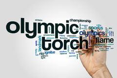 Olympic torch word cloud concept Royalty Free Stock Image
