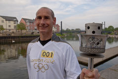 Olympic Torchbearer Paul Giblin, Stock Photos