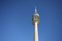 Olympic tower in munich. A photography of the olympic tower in munich Stock Photos