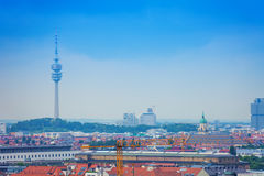The Olympic Tower in Munich, Bavaria, Germany Stock Image
