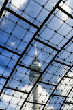 Olympic Tower at Olympic Park, Munich, Bavaria, Germany Stock Photo