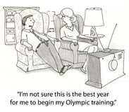 Olympic training Stock Image