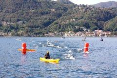 olympic triathlon för koppcusio Arkivbild