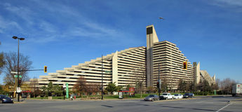Olympic Village (Montreal). The Olympic Village is a twin-tower structure in Montreal, Quebec, Canada built as the athletes' residence for the 1976 Summer Stock Images