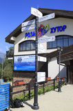 Olympic village in the mountains. Of Krasnaya Polyana Stock Photography