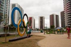 Olympic Village stock image