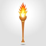 Olympic vintage torch Royalty Free Stock Photos