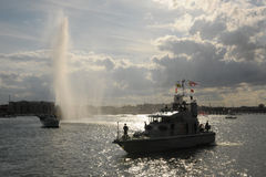 Olympic water salute Stock Image