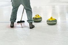 Olympic Winter games. Playing a game of curling. Olympic Winter games Stock Images