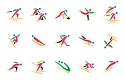 Free Olympic Winter Sports Icon Set Stock Photography - 140651072