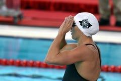 Olympic, world and European champion, World record holder swimmer Katinka HOSSZU HUN. Hong Kong, China - Oct 29, 2016.  Olympic, world and European champion Stock Photography