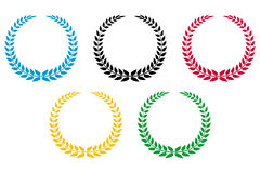 Olympic wreath. The olympic wreath vector Illustrations Royalty Free Stock Photo