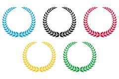 Olympic wreath. The olympic wreath vector Illustrations vector illustration