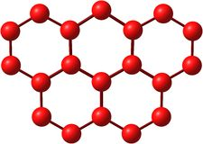Olympicene molecular structure on white Stock Photos