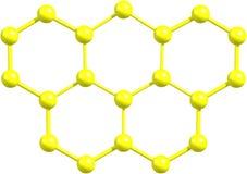 Olympicene molekylär struktur på vit Royaltyfri Bild