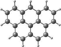 Olympicene molekylär struktur på vit Arkivfoton