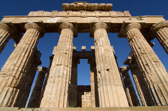 OLYMPICS. View of the temple of Hera in Selinunte, Sicily. It is one of the largest Greek temple in Italy Royalty Free Stock Images