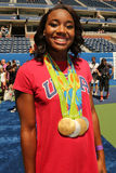 Olympics Champion swimmer Simone Manuel participates at Arthur Ashe Kids Day 2016 Royalty Free Stock Images
