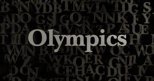 Olympics - 3D rendered metallic typeset headline illustration Royalty Free Stock Images
