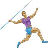 Olympics durchbohren das Werfen/Speer Stockbild