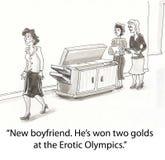 Olympics eróticos Imagem de Stock Royalty Free