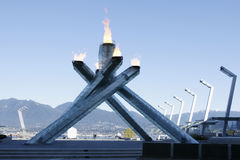 Olympics Flame Cauldron Vancouver Royalty Free Stock Images