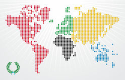 Olympics Games world map illustration Stock Photography