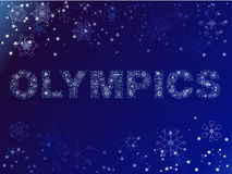 Olympics made of snow Stock Images