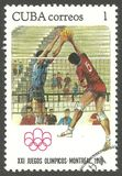 Olympics Montreal, Volleyball Royalty-vrije Stock Foto