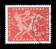 Olympics na znaczkach pocztowych fotografia stock