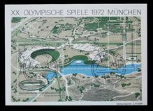 Olympics na znaczkach pocztowych obrazy stock