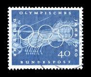 Olympics na znaczkach pocztowych zdjęcia stock