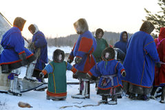 Olympics northern aboriginals. Russia. Yamal. Nadym. Stock Photos