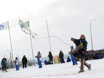 Olympics northern aboriginals. Russia. Yamal. Nadym. Stock Images