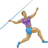 Olympics spear throwing/Javelin Stock Image