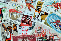 Olympics on stamps Stock Image