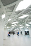The Olympics subway station. Located at the Olympics park, interior decoration imitation forest Stock Images