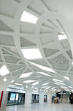 The Olympics subway station. Located at the Olympics park, interior decoration imitation forest Stock Photos