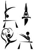Olympics symbolen voor gymnastiek royalty-vrije illustratie