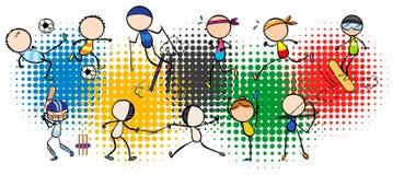 Olympics thema met velen type van sporten stock illustratie