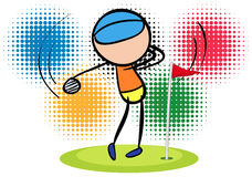 Olympics theme with golf player Stock Images