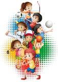Olympics theme with many sports. Illustration Stock Photos