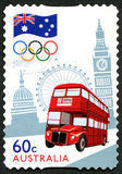 Olympics van Londen Australische Postzegel Stock Fotografie